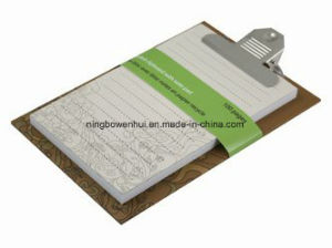 Lovely New Style Recycled Notepad with Clip pictures & photos
