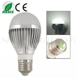 Emetal Housing 5W E27 Base White 5 LEDs Light Ball Bulb 6500k