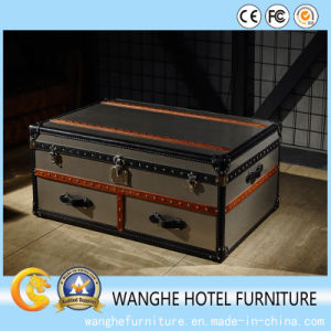 Creative Antique European Living Room Sofa Set with Metal Coffee Table pictures & photos