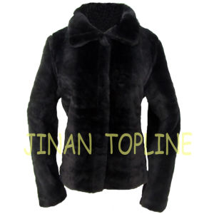 Women Faux Fur Fake Fur Coat with Front Buttons pictures & photos