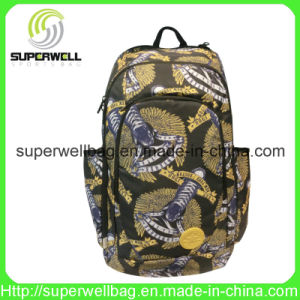 2016 Fashion Full Printted PU Sports Backpack Bag
