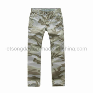 Camoflage Printed Cotton Spandex Men′s Trousers (APC-A081T) pictures & photos