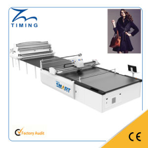 2017 Latest Double Layer Roll Fabric Cutting Machine pictures & photos