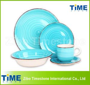 20PCS Cheap Ceramic Strip Stoneware Handpainted Dinner Set pictures & photos