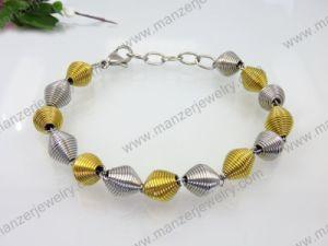 Latest Design Stainless Steel Korean Style Bead Bracelet for Lady Gift