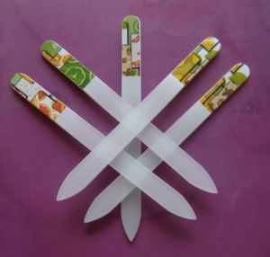 Glass Nail File With Printed (N-008)
