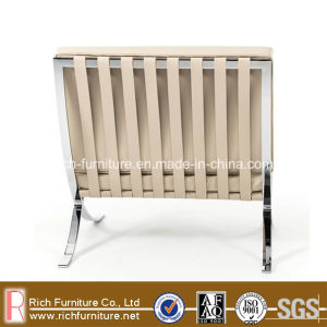 Stainless Steel Frame Metal Barcelona PU Chair 1seater pictures & photos
