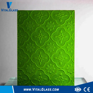 Green Flora Patterned Glass/Karatachi Figured Glass/Tinted Reflective Glass pictures & photos