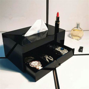 Luxury Black Makeup Storage Drawers for Jewelry Cosmetic Storage pictures & photos