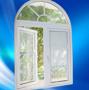Double Glazed Low E Glass Arc PVC/UPVC Casement Shutter Window
