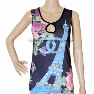 Women Hot Sell Digital Printed T Shirt (HT7030)