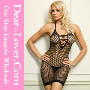Oval Net Strappy Open Back Women Sexy Nightwear pictures & photos