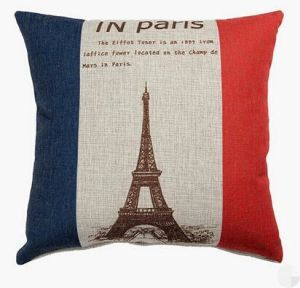 Eiffel Tower Printed Throw Cushion pictures & photos