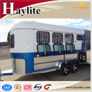 White 2 Horse Float with Living Quarters and Roof pictures & photos