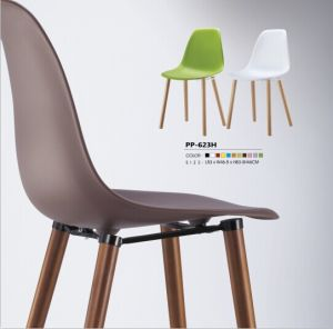 Colorful Plastic Chairs with Wooden Legs pictures & photos