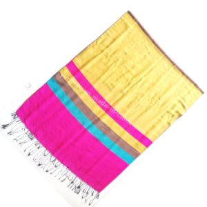 New Winter Tassels Jacquard Silk Scarf for Lady pictures & photos