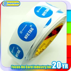 RFID NTAG203 Paper Adhesive Identification NFC Label pictures & photos