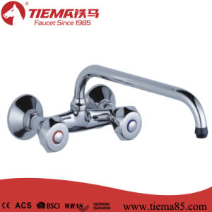 Two Handle Polished Brass Kitchen Faucet (ZS64502) pictures & photos
