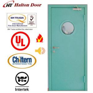 Steel Fire Door/Fireproofing Steel Door/BS Tested/UL Certified with Vision Glass/Fireproof Door