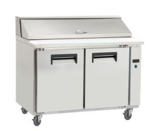 Three Door Stainless Steel Kitchen Counter Top Workbench Pizza Refrigerator pictures & photos