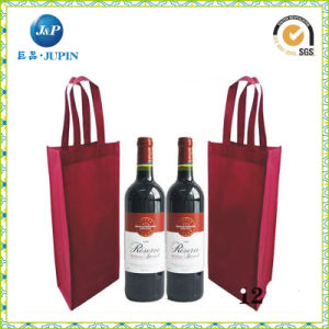 One Bottom Non Woven Wine Bottle Bag with Stifenerjp-Nwb011) pictures & photos