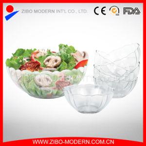 7PC Cheap Fancy Decorative Colored Glass Salad Bowl pictures & photos