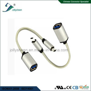 USB 3.1c Male to USB3.0A/Female Fast Charging with Matel Head Cable pictures & photos