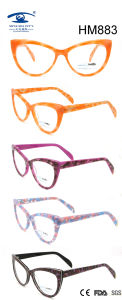 Handmade Custom Vintge Cat Multi Color Acetate Eyeglasses (HM883) pictures & photos