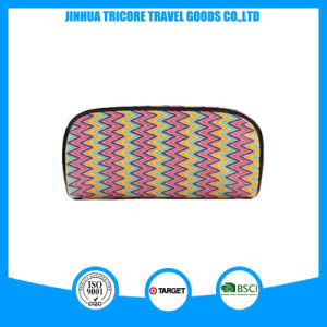 Wholesale Fashion Zipper Stripe PU Material Cosmetic Bag pictures & photos