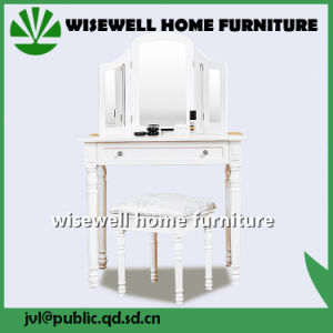 Bedroom Furniture Dressing Table with 3 Mirror (W-LZ-802) pictures & photos