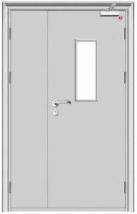 European Simple Design Steel Security Fireproof Door pictures & photos