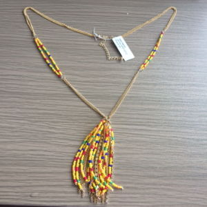 Multi-Colour Beads Necklace with Metal Tassel Fashion Jewelry pictures & photos