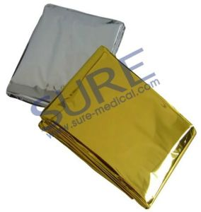 CE&FDA Approved Silver and Golden Thermal Rescue Emergency Blanket (SR5028) pictures & photos