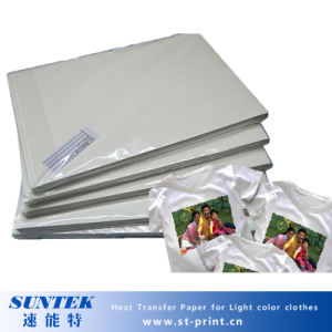 A4 Size Inkjet Heat Transfers Paper for Light Color Textile pictures & photos