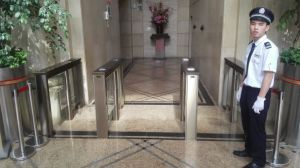 Time Attendance Swiping Card Swing Gate Turnstile pictures & photos