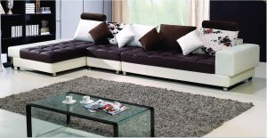 Elegant Leather Sectional Sofa Jfc-12