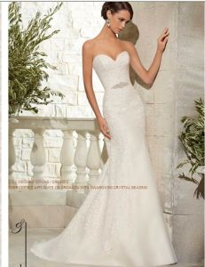 2015 Crytal Beading Strapless Bridal Wedding Dresses (WD5307) pictures & photos