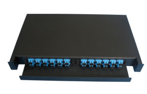 Slidable Rack Mount Type Fiber Patch Panel 24 Cores pictures & photos
