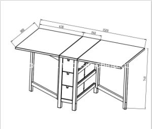 Ikea Folding Dining Table pictures & photos