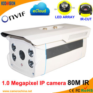 Weather Proof LED Array 1.0 Megapxiel 720p IP Camera (80M) pictures & photos
