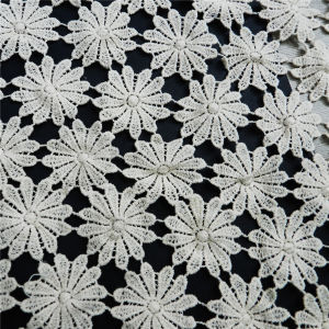 Water Soluble Topza Cotton Lace Fabric (L5122) pictures & photos