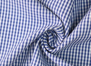 Royal/White Classical Checks Plain Polyester Cotton Shirt Fabric pictures & photos