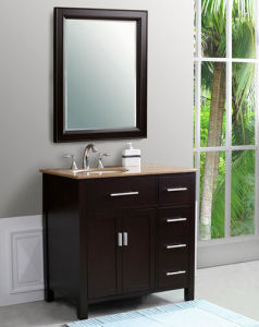 Classic Solid Oak Wood Bathroom Vanity with China Manufacturer pictures & photos