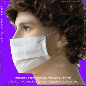 1 Layer/2 Layer/3 Layer Disposable Paper Face Mask for Food Process pictures & photos