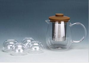 600ml Juice Pot Hand Blown Tea Pot with Filter pictures & photos