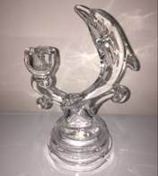 Transparent Dolplin-Shaped Glass Candle Holders Candlestick pictures & photos