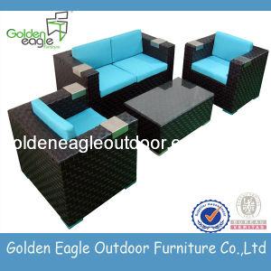 SGS Test PE Rattan Garden Sofa Set