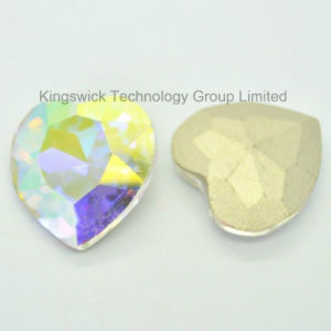 Wholesale Heart Shape Crystal Ab Glass Stone pictures & photos
