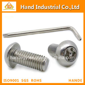 Stainless Steel Screw Torx with Pin Button Head Security Screws pictures & photos