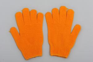 Best Work Cotton Gloves China Wholesale Orange Glove pictures & photos